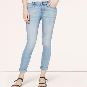 Loft Cuffed Modern Skinny Ankle Jeans In Wishbone